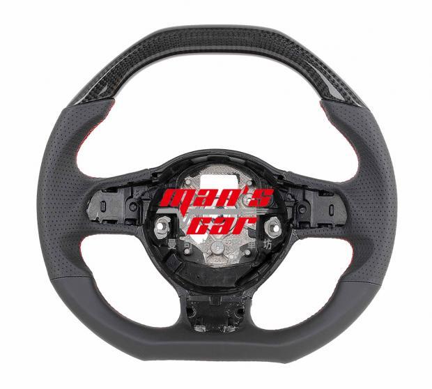 MODEL: AUDI R8 Coupe,R8 Spyder, TT ( MT ) 材質: CARBON/ 皮(打洞)/皮 Price:NT$38000 代號: a81 MANS steering wheels- MANS方向盤  為兼具時尚、提升操控性、堅固、精緻的高端產品, 專注人體工學設計並通過嚴格的高強度測試, 我們所提供的產品,在顏色及材質上可以多樣選擇, 客製化的訂製且適用原廠的汽車安全氣囊, 並與日、歐大廠密切合作,持續研發更新穎產品, 把最優質的方向盤呈現給大家!